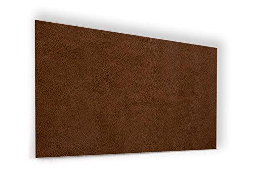 """Fond de hotte en panneau composite aluminium ou crédence de cuisine prête à poser avec adhésif double face """"Texture cuir marron"""" - L. 120 x H. 70 cm - Epaisseur 3 mm - [ Impression Murale® ]"""