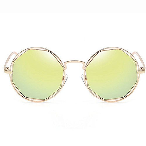 Moda Gafas De Sol Metálicas Retro Moda Polígono