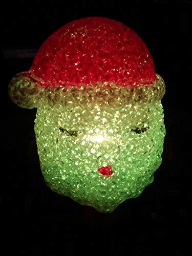Weihnachtskreativ-geschenk Crystal Santa Claus Kopf Bunte Nachtlichter Zwei -