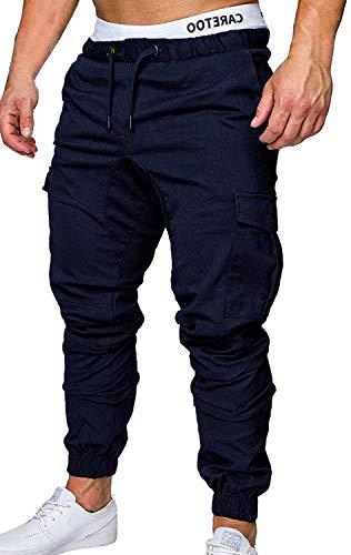 CARETOO Jogger Cargo Herren Hosen Chino Jeans Fitness Sport Trekking Stretch Freitzeithose Streetwear Hosen Short für Herbst Winter Frühling Alle Jahreszeiten