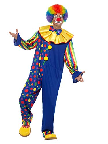 Smiffys SMIFFY 'S 47200 X L Deluxe Clown Kostüm, Herren, Mehrfarbig, xl-uk Größe 116,8cm 48