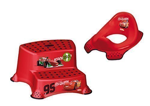 Set 2 Z Disney Cars WC Accesorio + Banqueta Dos Escalones