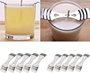 Mobestech 8pcs Metal Candle Wick Centering Device Candle Wick Holder Clip for DIY Candle Making