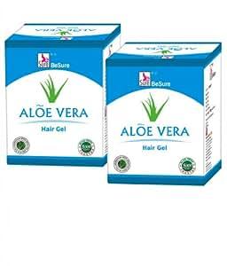 Besure Aloevera Hair Gel 100g (Pack of 2)-Free Recharge Inside.