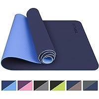 TOPLUS Tapis de Yoga, Tapis Gym - en TPE matériaux Recyclable, Ultra antidérapant et Durable, 183x61x0.6 cm, Non Toxique, Tapis de Sol pour Sport, Fitness