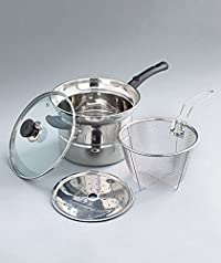 4-Pc. Stainless Steel Steam and Strain Cook Sets