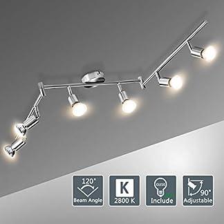 Bojim Faretti LED da Soffitto Orientabili con 6 LED GU10 6W