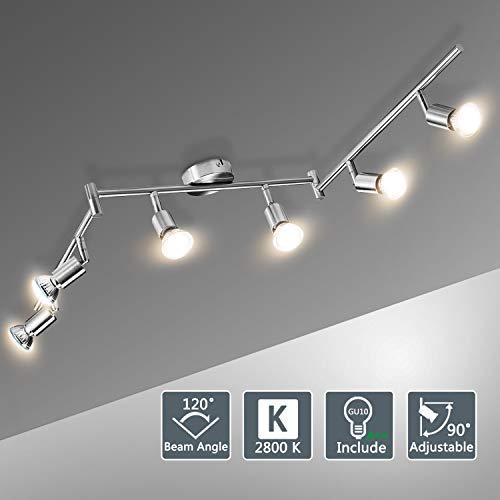 Lámparas de Techo LED 6 Focos Orientables, Bojim Luz de techo con...