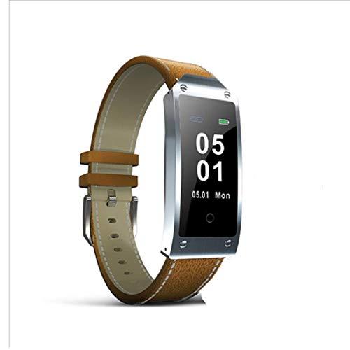 XJRHB GPS-Positionierung hob Armbanduhr Puls Smart Puls Smart Uhr (Farbe : Brown)