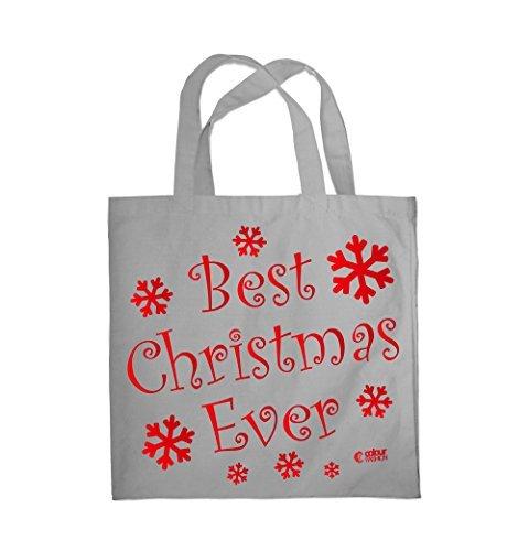 Colour Fashion Best Christmas Ever Shopping Fitness Strand Tragetasche 0085 Grau