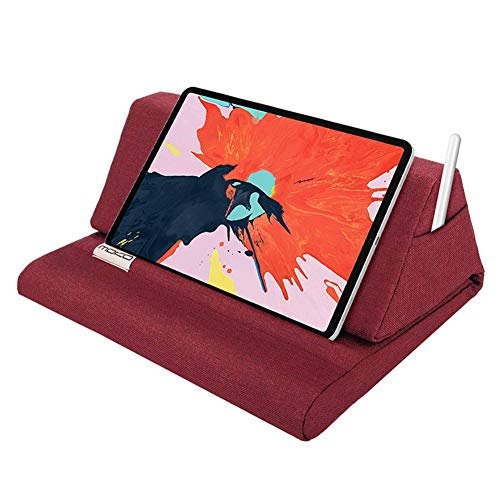 Runzeseny Tablet Stand Pad Phone Pillow Multi-Angle Soft Pillow Flip Stand Crib Knee/Desk Laptop Holder Tablet Pillow Foam Multifunction Laptop Cooling Pad Tablet Stand Holder Stand Lap Rest Cushion