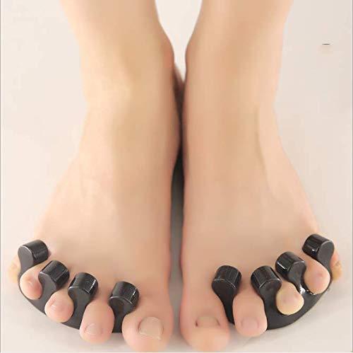 ZMXZMQ 2 Paar Soft Gel Splints Zur Vermeidung Von Überlappung Fußschmerzen Reduzieren, Überlappung Verhindern Flexible Fußpflege   Fleck, Geruchsresistent,Black -