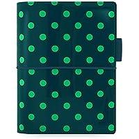 Filofax Domino - Raccoglitore, copertina a pois, colore: verde pino - Filofax Domino