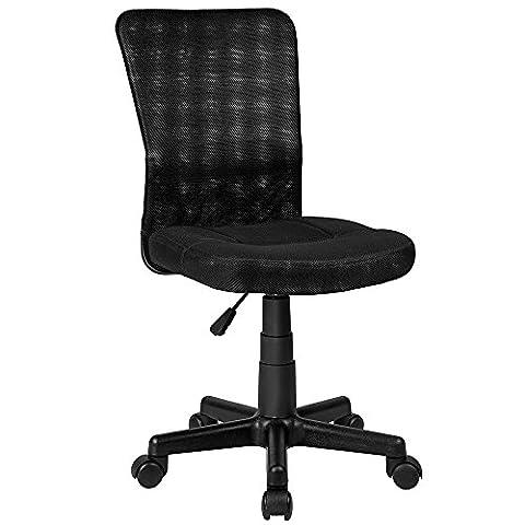 TecTake Bürostuhl Drehstuhl Schreibtischstuhl Schwarz