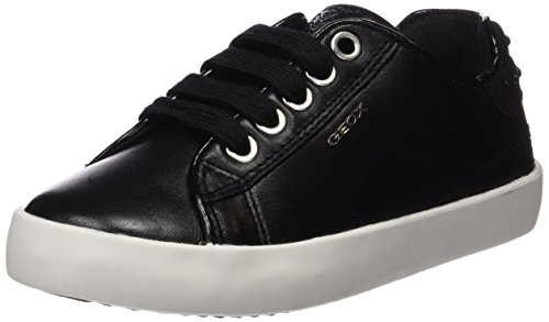 Geox Kiwi B, Baskets Basses Fille Schwarz (BLACKC9999)