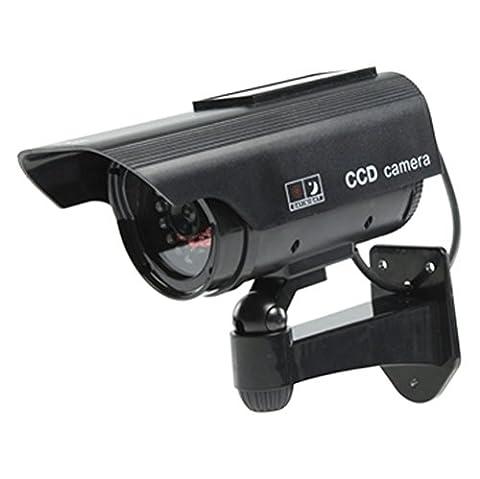 Ex-Pro® Black SOLAR Dummy / Fake CCTV Security Camera /Outdoor
