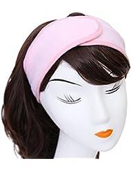 Demarkt Bandeau Serre Tête Cheveux Coton Rose Pour Soin Visage Maquillage Masque-punk