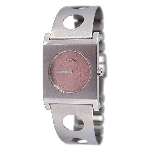Aristo quarzo Dau per orologio da donna con bracciale acciaio inox 7d64–2