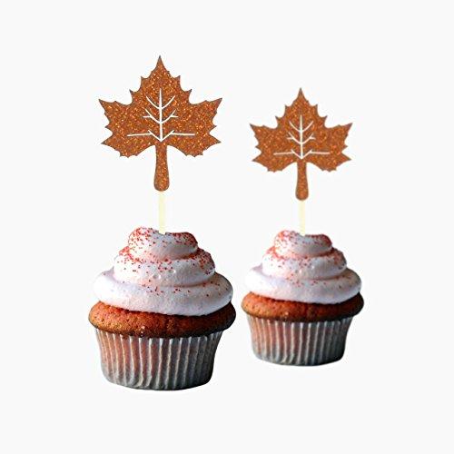 Maple Leaf Cupcake Topper 12Stücke Pro Pack Cupcake Topper Dekoration Karte Lager Kupfer