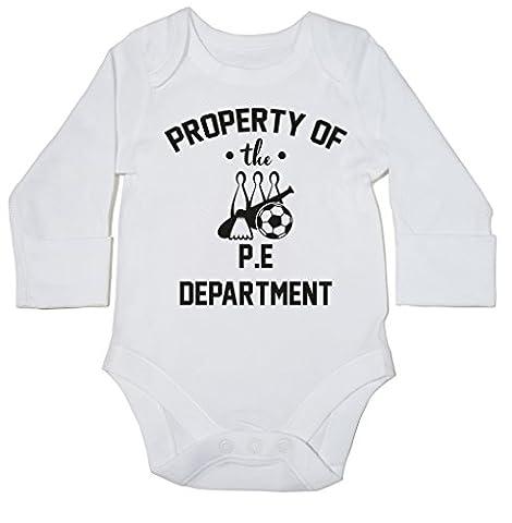 hippowarehouse Eigentum der PE Abteilung Baby Body (Langarm) Jungen Mädchen Gr. 18-24 Monate, weiß