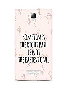 AMEZ the right path is not easy Back Cover For Lenovo A2010
