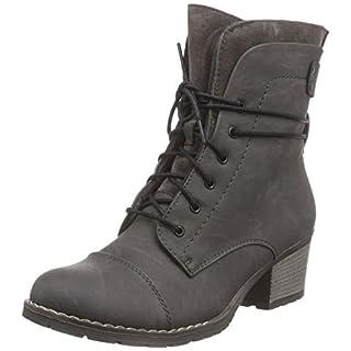 Rieker Halbschaft 92501 Damen Stiefel, Grau (fumo/graphit/45), 36 EU (3.5 Damen UK)
