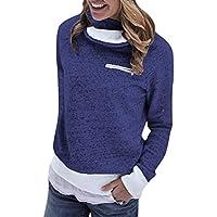 Fymia❤️❤️ Frauen Winter Zipper Langarm Flanell Sweatshirt Pullover Tops Bluse