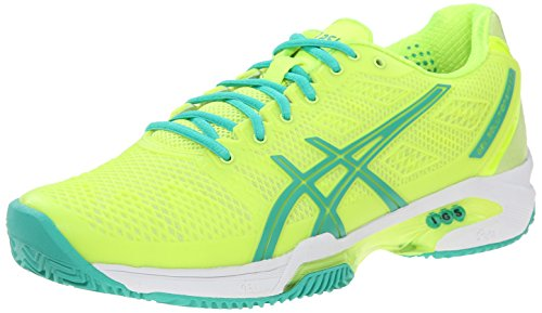 Asics – Damen gel-solution Speed 2 Tennis Schuhe, gelb - Flash Yellow/Mint/Sharp Green - Größe: 43.5 EU (Cross Asics Schuhe Training)