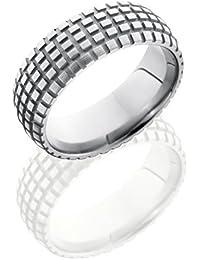 SlipRock Titanium, Cycle Texture Polished Wedding Band Sandblasted Accents (sz H to Z1)