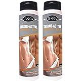2 bouteilles Thermo Active Thermogénique combustion des graisses localisées crème idéal pour minceur 200 ml Avec...