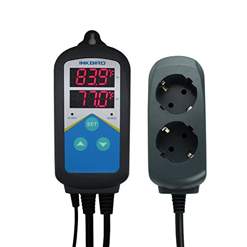Inkbird ITC-306T Digitale Steckerthermostat Temperature Controller Temperaturregler Steckdose Thermostat Fahrenheit Celsius, Heizung Temperatur Regler, keine Kühlung Funktion Gewächshaus-ventilator Thermostat