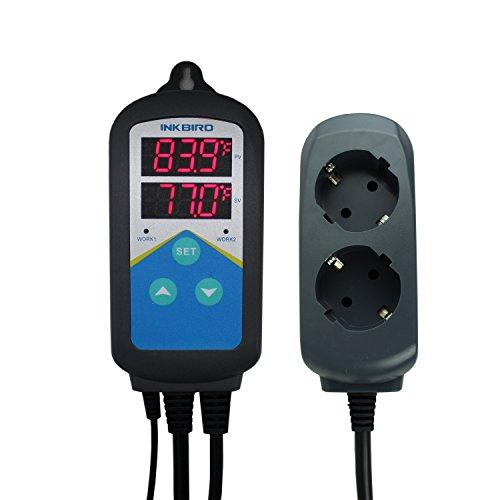 Heizung Temperatur-kontrolle (Inkbird ITC-306T Digitale Steckerthermostat Temperature Controller Temperaturregler Steckdose Thermostat Fahrenheit Celsius, Heizung Temperatur Regler, keine Kühlung Funktion)