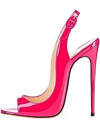 Zapatos 42 Mujer Fucsia De Sandalias Amazon Vestir es Para N0y8nvOmw