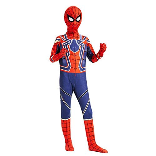 (Diudiul Luxus Kids Superheld Spiderman Kostüme für Kinder Action Dress Ups und Zubehör Party Cosplay Kostüm (XL(140-150cm), Rot Blau-Kind-B))