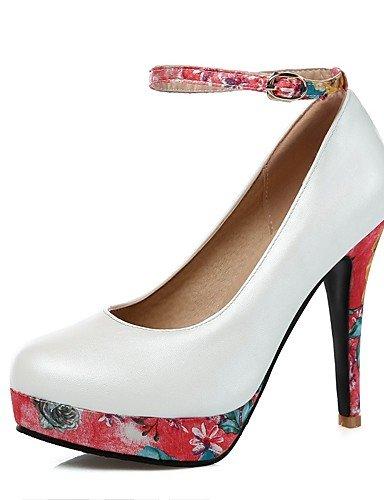 WSS 2016 Chaussures Femme-Bureau & Travail / Décontracté-Bleu / Rose / Blanc-Talon Aiguille-Talons / Bout Arrondi-Talons-Polyuréthane blue-us6 / eu36 / uk4 / cn36