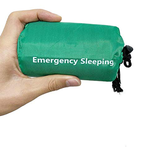 Elitlife Notfallzelt,Biwaksack Survival Schlafsack warm Outdoor Tube Zelt wasserdicht leicht hitzeabweisend Kälteschutz Ultraleicht Rettungszelt für Camping im Freien und Wandern (1 Pack - Grün)