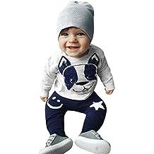 ❤️ Amlaiworld Conjunto de bebé recien nacido Primavera verano Niños niñas Dibujos animados Perro Orejas Tops Pantalones Conjunto de ropa 0 - 24 Mes