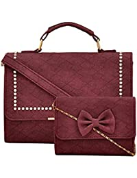 R3 Women's Handbags With Sling Bag Wine-R3-6