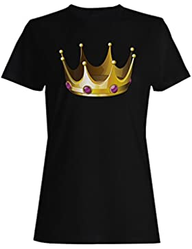 Novedad divertida del arte de la reina del rey de la corona camiseta de las mujeres a547f