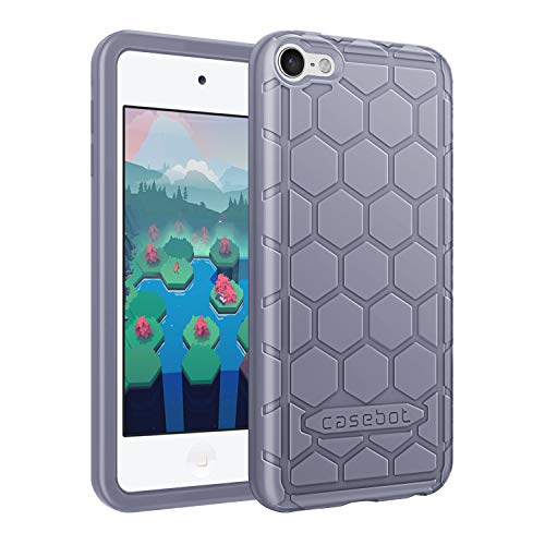 ibel mit iPod Touch 2019 / iPod Touch 6 - Leichte rutschfeste Stoßfeste Silikon Schutzhülle kinderfreundlich für iPod Touch 7, 6. und 5. Generation, Lavendel grau ()