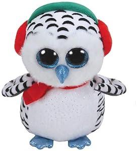 Ty, Schneeeule 24cm Beanie Boos Nester-Búho 23cm-Navidad, Color Blanco (36424TY)