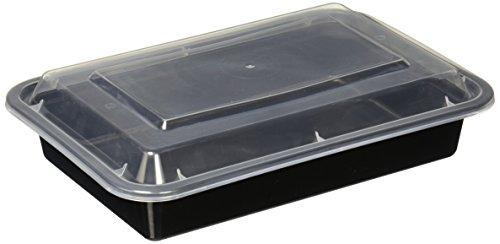 Reditainer rechteckig–Frischhaltedosen mit Deckel–Mikrowelle & spülmaschinenfest 28 oz schwarz