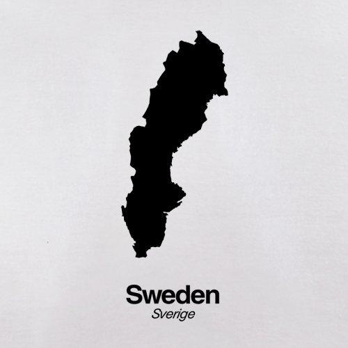 Sweden / Schweden Silhouette - Damen T-Shirt - 14 Farben Weiß