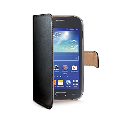 Celly Custodia ad Agenda Wally per Samsung Galaxy Ace 4, Nero