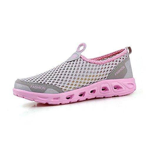 Sommer Atmungsaktive Unisex Erwachsene Neue Lässige Mesh Kühle Slip On Laufen Schnürsenkel Dicke Sohle Sport Turnschuhe Sneakers Violett