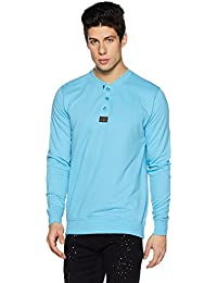 Symbol Amazon Brand Men's Henley Sweatshirt