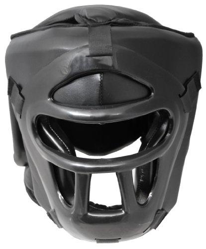 Pro PU Full Face Kopfschutz mit Maske Visier Gitter Thaiboxen Abbildung 3