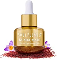 Kumkumadi Oil by Soulflower, Night Beauty Elixir, Pure, Natural & Organic Facial Oil, With Precious Oils o