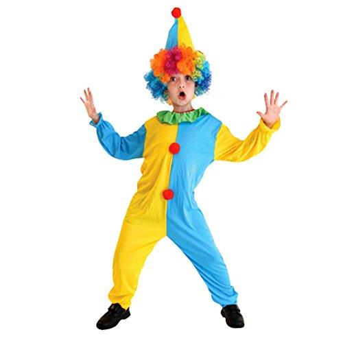 Enerhu Halloween Clown Kostüm Kinder Kleidung Horror Faschingskostüm Karneval für Cosplay (Jungs Kostüme Cosplay Für)