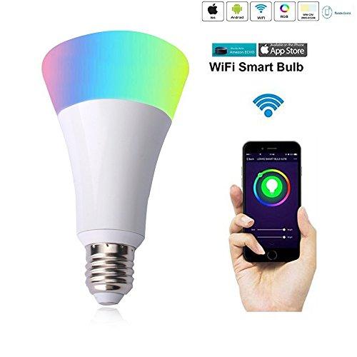ED Glühbirne Farbe Licht funktioniert mit Amazon Echo und Alexa Fernbedienung mehrere Farbe Night Light App Control Unterstützung Android4.0und ios8.0oder vor (Wie Zu Tun, Ap)